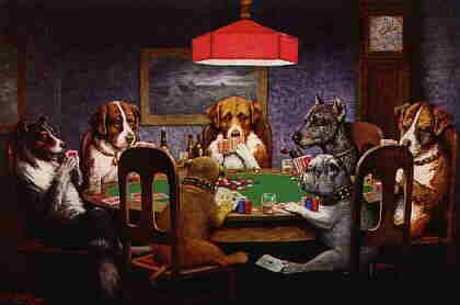 Son perros!!! Perros jugando al poker!!